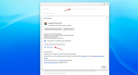 Información de Chrome OS