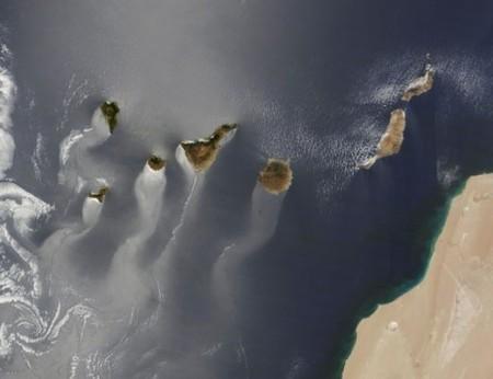 Y la imagen ganadora del concurso Tournament Earth de 2014 del Earth Observatory de la NASA es: las islas Canarias