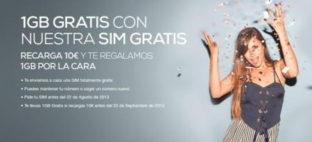 Tuenti móvil busca nuevos clientes con SIM gratis y 1 GB de regalo al recargar 10 euros