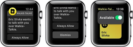 La función de Walkie-Talkie ya está disponible en la segunda beta de watchOS 5