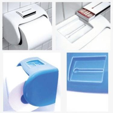 Soporte de papel higiénico y caja de cerillas