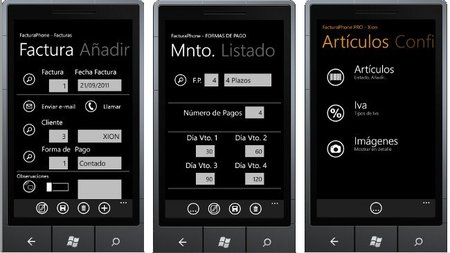 FacturaPhone, sistema de facturación para Windows Phone