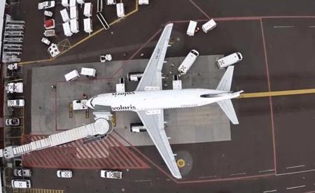 Un dron viajando en el aeropuerto del D.F. se convierte en un corto premiado
