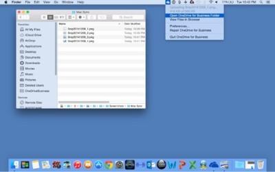 OneDrive para la empresa llega a OS X y se integra en la misma app de iOS para OneDrive