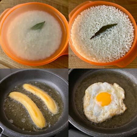 paso a paso arroz a la cubana