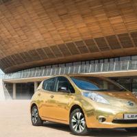 Nissan crea un Leaf dorado para los atletas británicos que se lleven una medalla de oro a casa