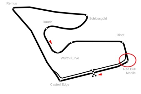 Las quejas por la seguridad surten efecto, cambiada la curva 10 del Red Bull Ring