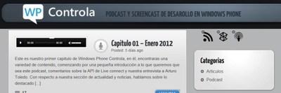 Windows Phone Controla, podcast y screencast de desarrollo en wp7