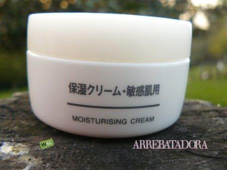 Cosméticos de Muji: crema hidratante para pieles sensibles