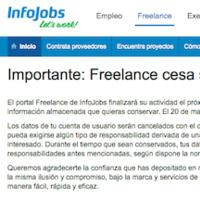 Cierra Infojobs Freelance, el portal de empleo para autónomos de Infojobs