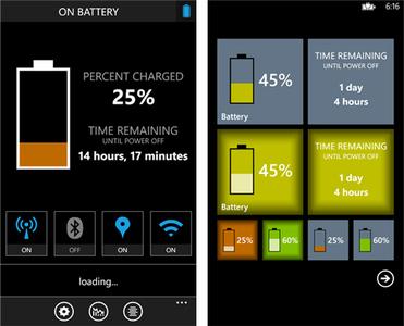 Battery, monitoriza la vida de tu Windows Phone