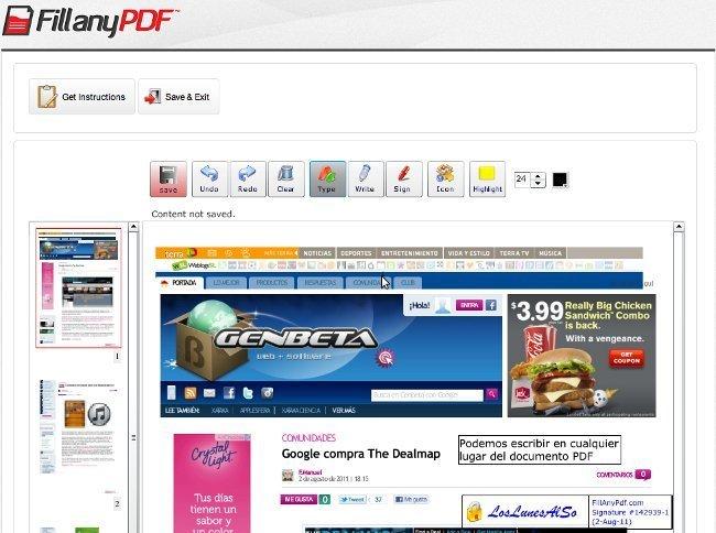 FillanyPDF, nos permite rellenar documentos PDF sin necesidad de imprimirlos
