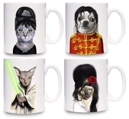 Gatos convertidos en famosos en tus tazas