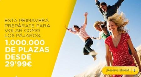 Vueling también oferta vuelos 'desde' 29,99 euros, comprando hasta el 10 de abril