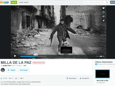 """16 fotoperiodistas en pie de guerra contra """"La Milla de la Paz"""" de San Sebastián"""