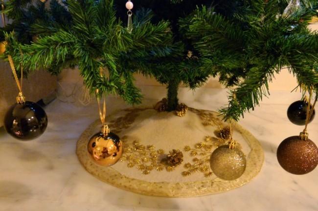 Pie árbol de Navidad de Celeste