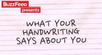 Dime cómo escribes y te diré cómo eres