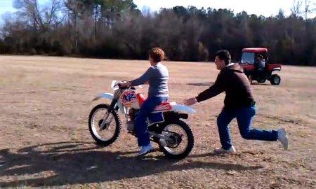 La primera vez en una moto