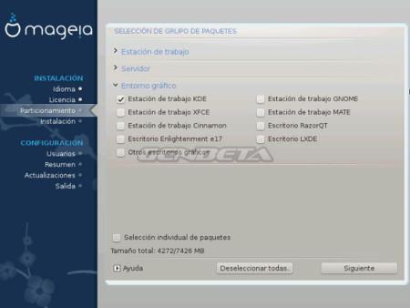Mageia-4, instalación