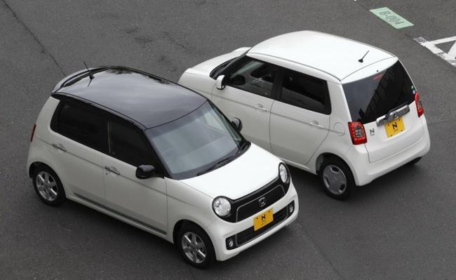 Honda N-One vista superior delante y detrás