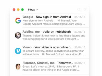 DejaLu, el nuevo cliente de correo del creador de Sparrow