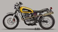 Yamaha SR400 Scrambler, la idea de Luca Bar Design