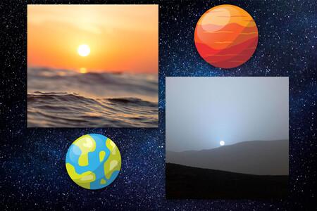 Los cielos de Marte llevan la contraria a los de la Tierra: allí veríamos atardeceres azules y días rojos