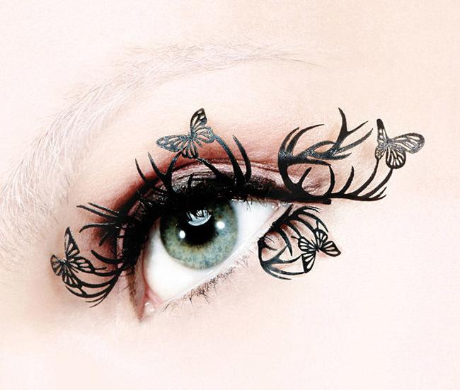 Primer plano ojo con eyelashes