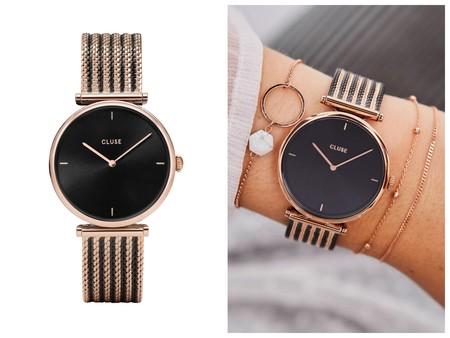 Reloj Negro Y Dorado Cluse