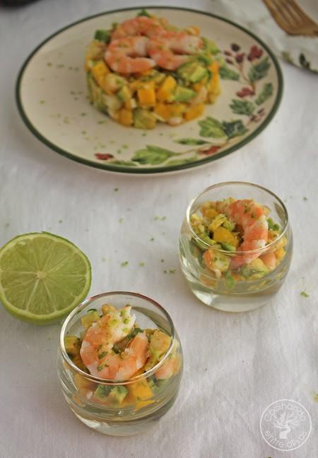 Tartar De Aguacate Mango Y Langostinos 1