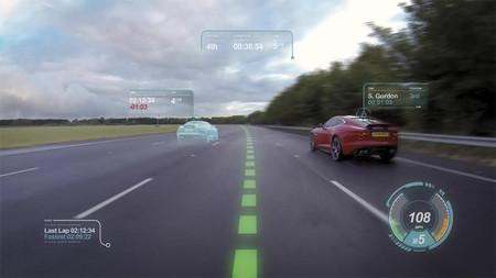 El videojuego se convierte en realidad con el parabrisas virtual de Jaguar y Land Rover