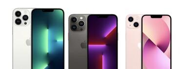 Comparativa entre el iPhone 13 Pro, iPhone 13, iPhone 12 y iPhone 11, el catálogo iPhone visto en especificaciones
