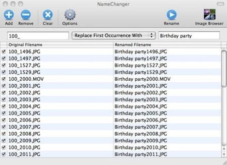 NameChanger, renombra rápidamente archivos