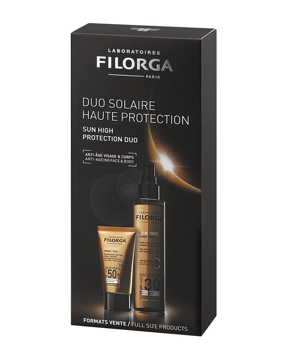 Pack Protección solar Antiarrugas Absoluta Duo UV-Bronze Filorga