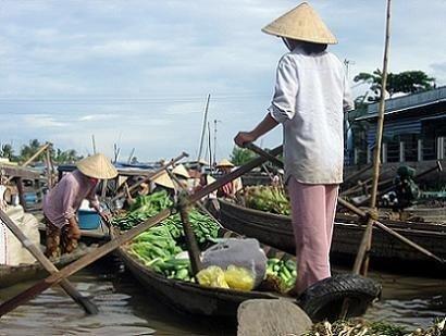Vietnam y los mercados flotantes