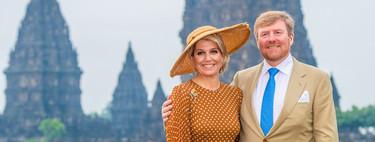 Máxima de Holanda se viste de Julia Roberts en 'Pretty Woman' con un precioso vestido de lunares