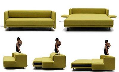 Wow, un sofá-cama que se abre pulsando un botón