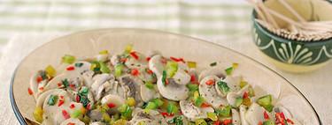 Receta de champiñones marinados con guindilla