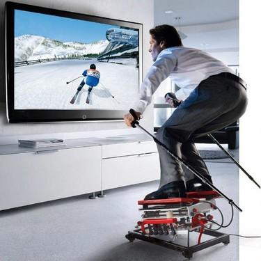 Practica el esquí en tu salón