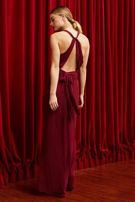 Pretty Rory Halter Dress Wine
