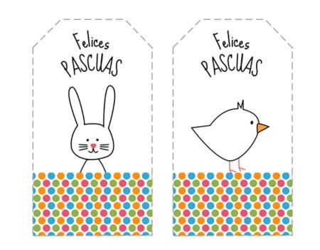 Etiquetas Pascua Imprimir