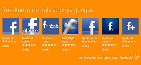 Facebook pide la retirada de numerosas apps que utilizan su nombre en Windows Phone Store