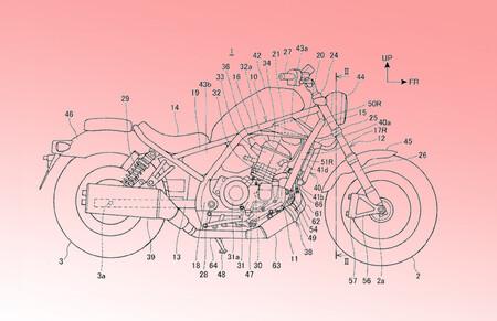 La Honda Rebel 1100 podría hacerse realidad con el motor de la Africa Twin, tal y como apuntan estas patentes
