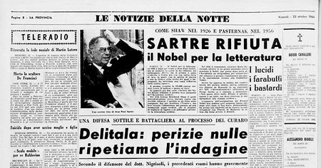 1445530577274 Jpg Lo Scrittore Francese Jean Paul Sartre Rifiuta Il Premio Nobel Per La Letteratura