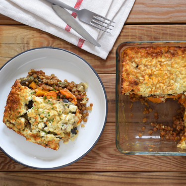 Moussaka vegetariana de lentejas y calabaza: receta para conquistar