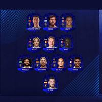 FIFA 19 anuncia su Equipo del Año (TOTY). Ronaldo, Messi y Modric en el combinado definitivo de 2018