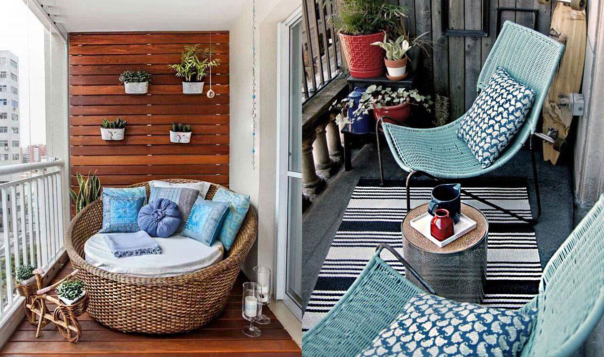 17 trucos para sacar partido a balcones peque os - Muebles para balcon pequeno ...