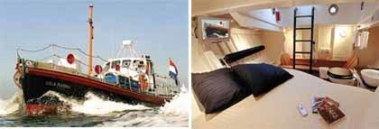 Un barco de rescate convertido en hotel