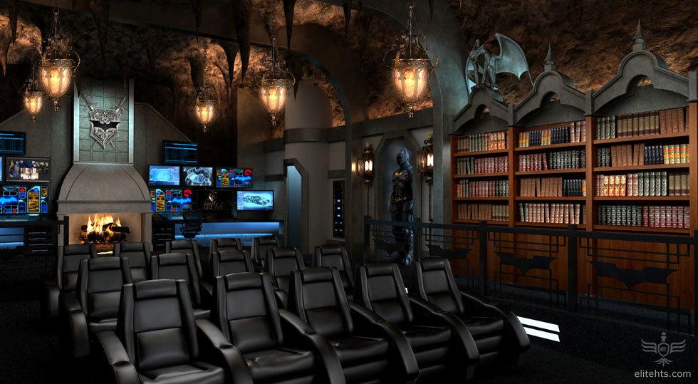 Salas de cine en casa espectaculares la batcueva 3 4 - Fotos salas de cine en casa ...