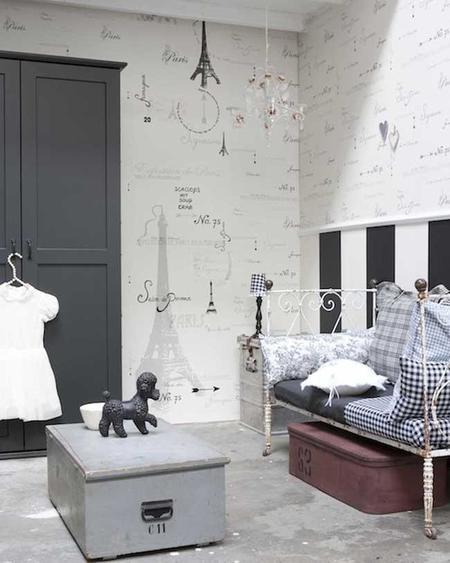 Estampados gr ficos en blanco y negro para decorar el dormitorio de tu beb - Dormitorio en blanco y negro ...